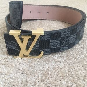 Damier Belt With Buckle